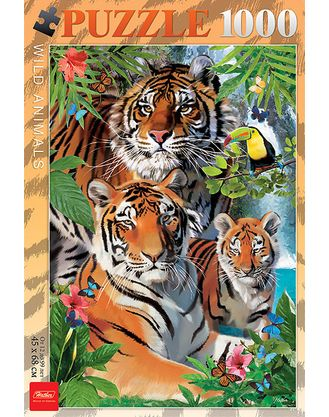 Пазл 1000 Тигриная семья