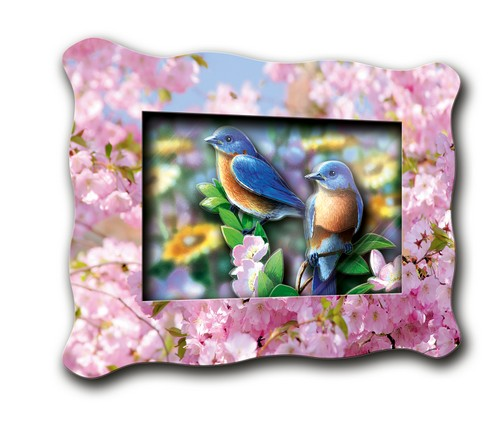 Объемная картинка Mini Сойки в саду