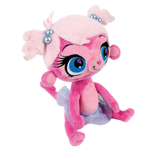 АКЦИЯ19 Игрушка мягконабивная Littlest Pet Shop Обезьянка 20 см. озвуч.