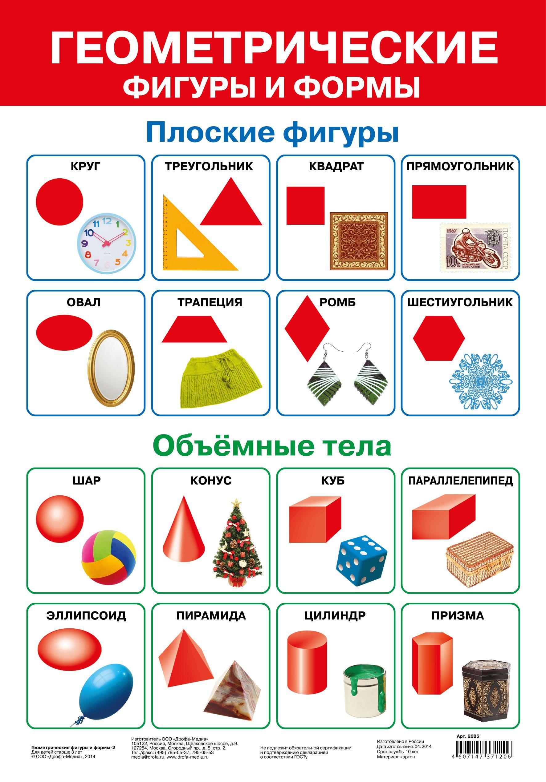 Плакат Геометрические фигуры и формы - 2