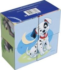 Кубики 4шт Step Зверята Disney