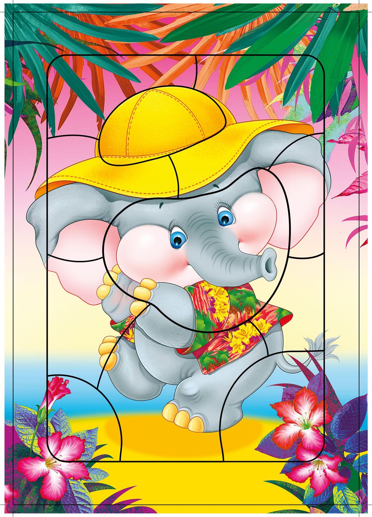 Пазл-планшет Слоненок 11 шт.