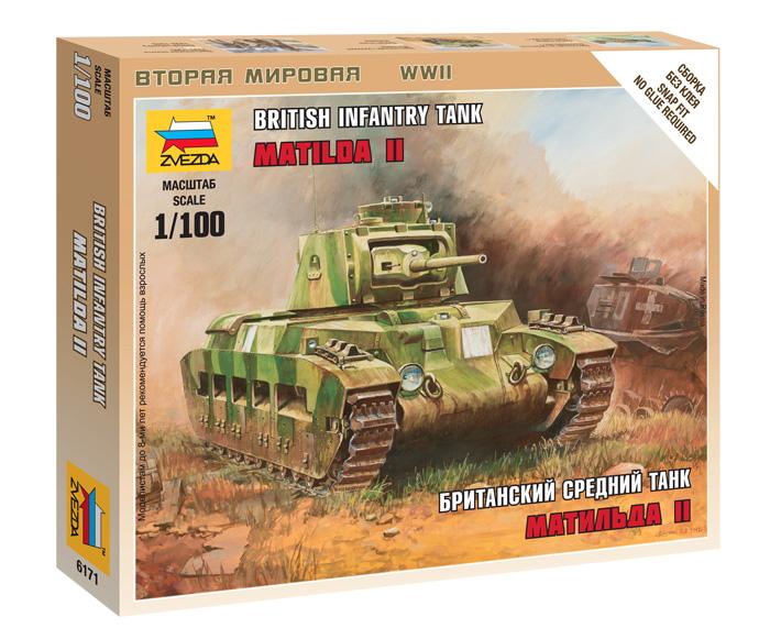 Сборная модель Британский средний танк Матильда МК-2 1/100