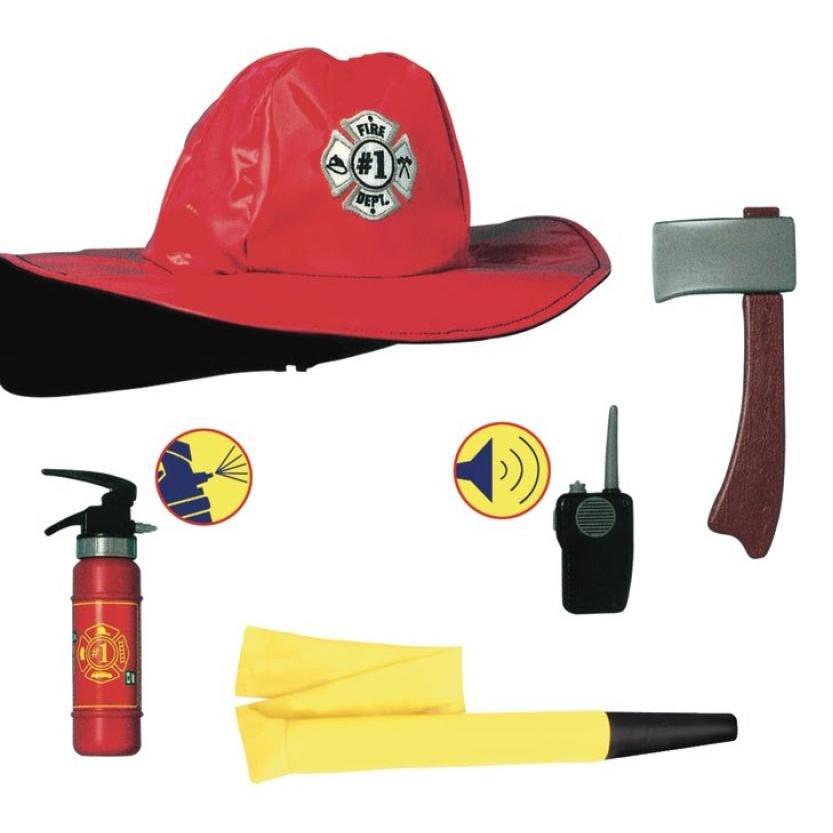 Костюм Пожарник с аксесс. (куртка + шлем + 6 предметов)