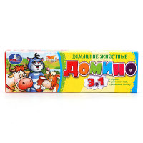 Игра Домино Простоквашино Домашние животные 3 в 1 пластмас.