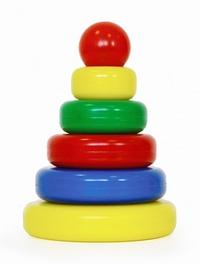 Пирамидка Классическая 5 колец (шарик) пластмас.