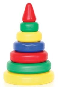 Пирамидка Классическая 4 кольца (конус) пластмас.