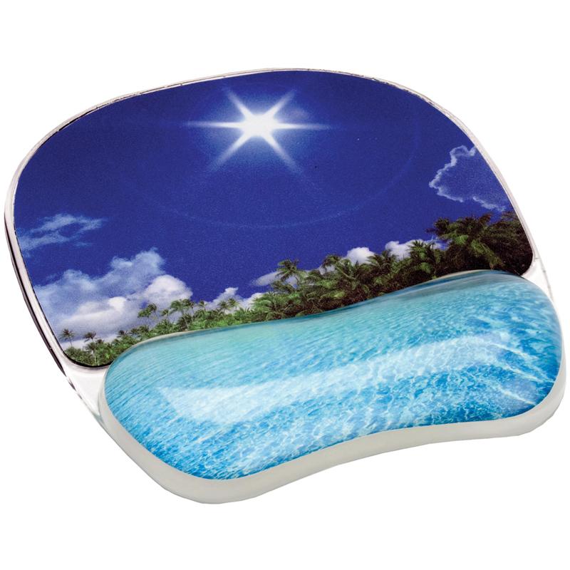 Коврик для мышки с гелевой подкладкой для руки  Тропический пляж