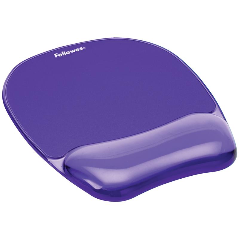 Коврик для мышки с гелевой подкладкой для руки фиолетовый