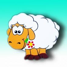 НГ Магнит Задумчивая овечка 11см