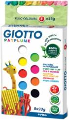 Пластилин 8 цв Giotto Patplume неон 33гр к/к