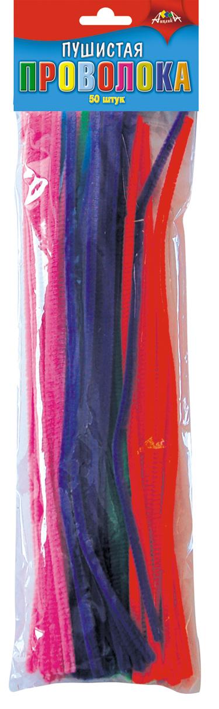 Проволока пушистая 30см 50шт одноцветная