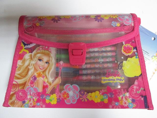 Набор д/творчества Barbie Потайная дверь (портфель + фломастеры