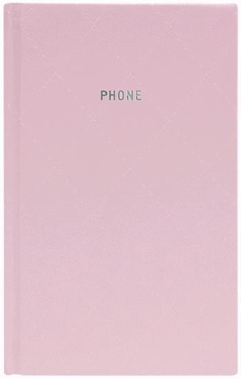 Телефонная книжка А5 Diamond светло-розовая