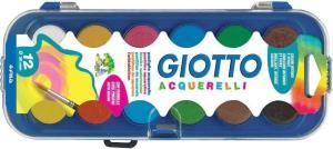 Краски 12цв Giotto Acquarelli (сухая) п/к б/к