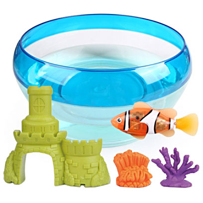 набор Роборыбка с 2 кораллами + замок и аквариум батар.