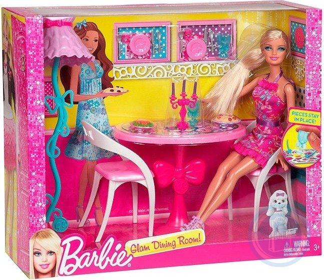 набор Barbie Барби Кукла + мебель