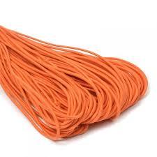 Творч Шнур плетеный 5м., иск кожа, 3мм, оранжевый 21