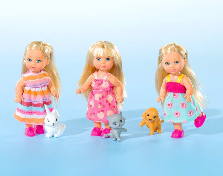 Кукла Еви со зверюшками 12см в ассортименте
