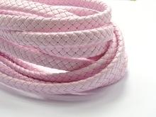 Творч Шнур плетеный 5м., иск кожа, 3мм, розовый 09