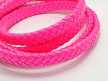 Творч Шнур плетеный 5м., иск кожа, 3мм, ярко-розовый 20