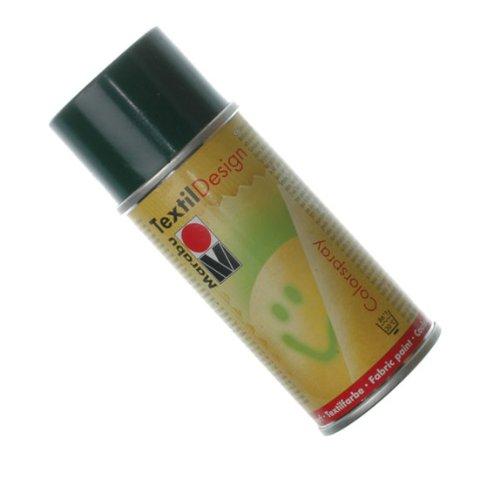 Краска по ткани в аэрозоли Textile Design зеленый темный 150мл