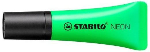 Маркер-выделитель зеленый Stabilo Neon тюбик