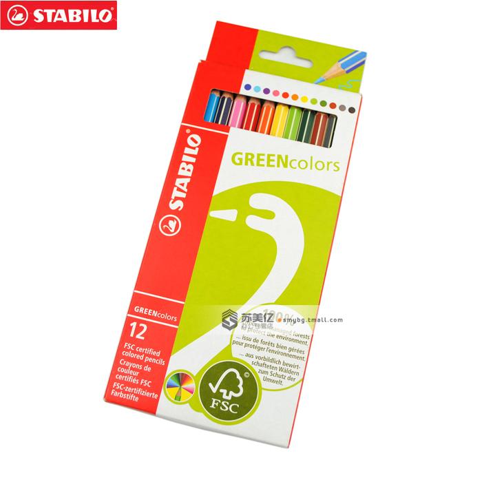 Карандаши цветные 12 цв Stabilo GreenColors
