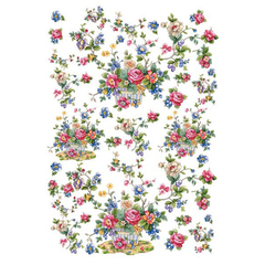 Бумага для декупажа 48*68 Calambour Мелкие франц. розы