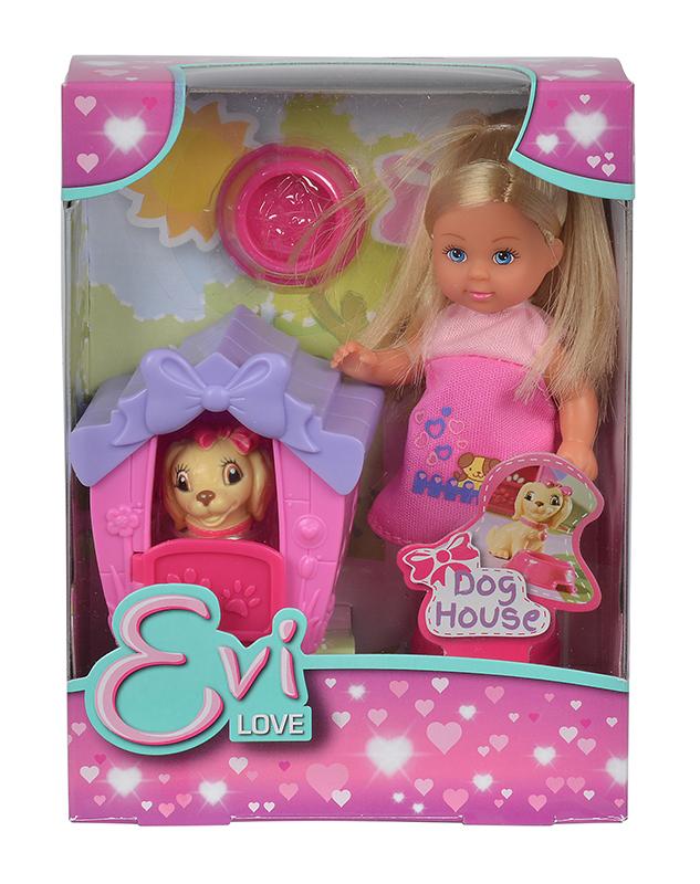 Кукла Еви с собачкой в домике 12 см.