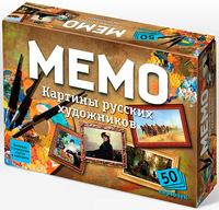 Игра Настольная Мемо Картины русских художников 50 карточек