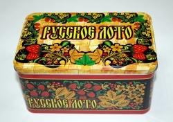 Игра Настольная Русское лото в метал. коробке