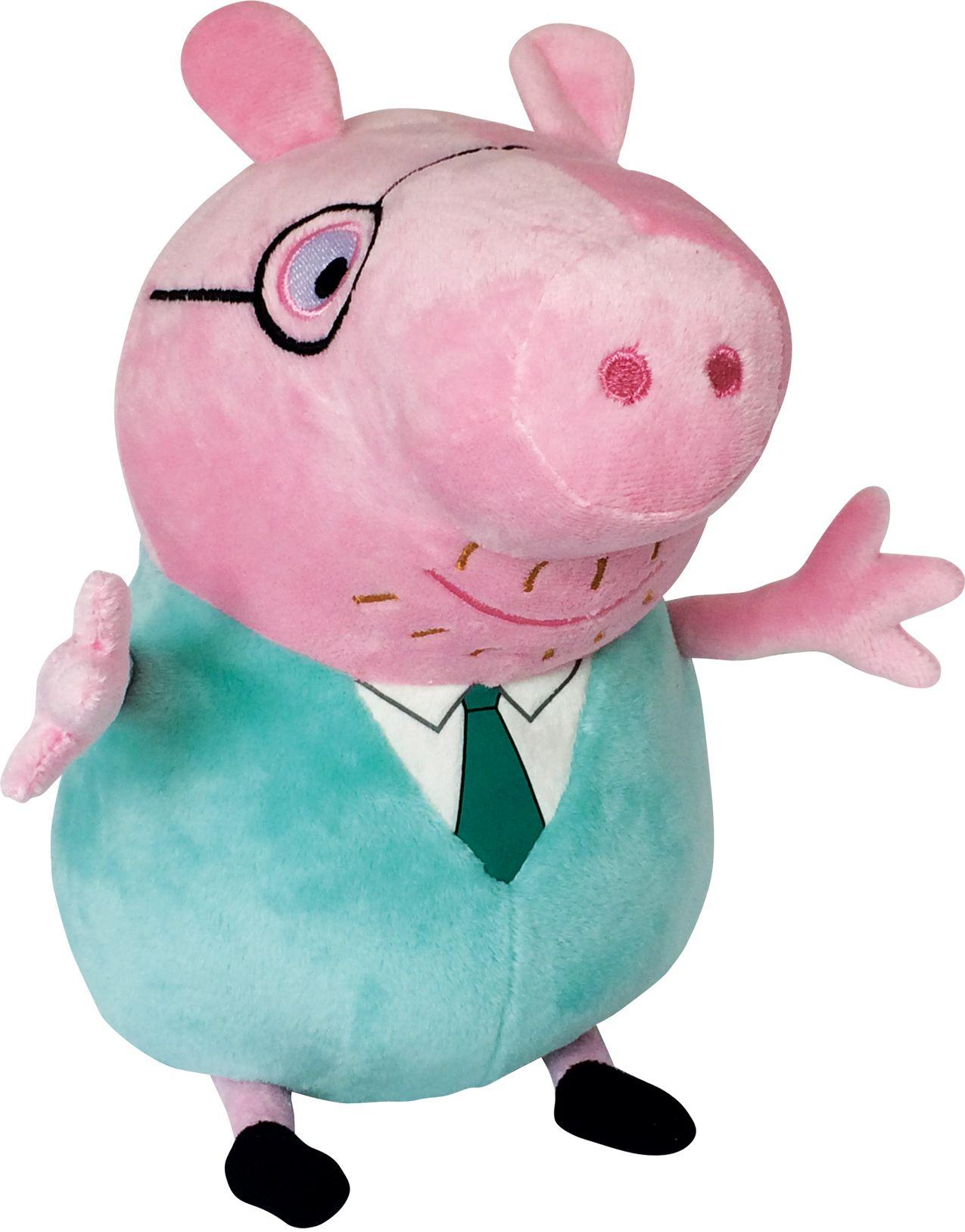 Мягконабивная Peppa Pig Папа Свин с галстком 30 см.