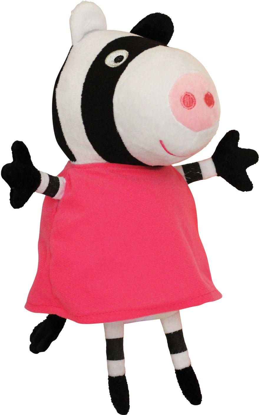 АКЦИЯ-20 Игр Мягконабивная Peppa Pig Зебра Зои 20 см.