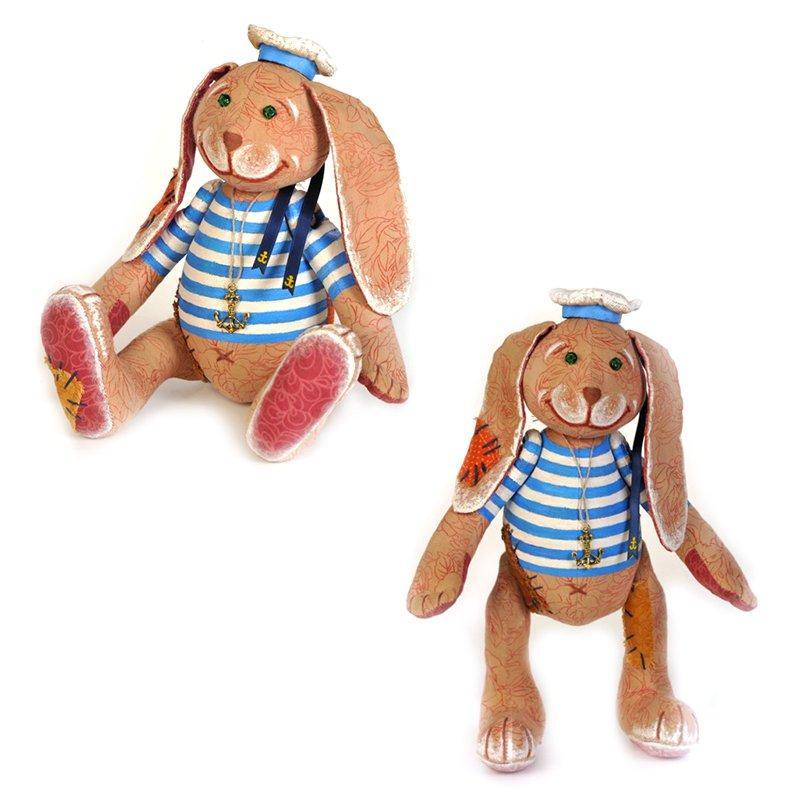 Кукла Перловка Заяц - Повелитель морей 24см.