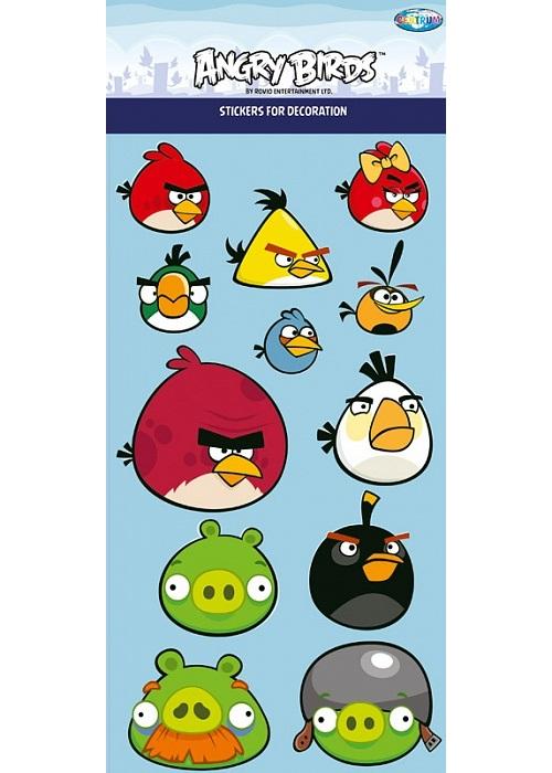 Наклейки для интерьера Angry Birds 3D 14*32