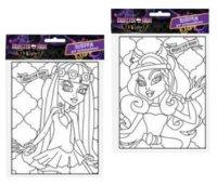 Витраж пласт Monster High 17*13