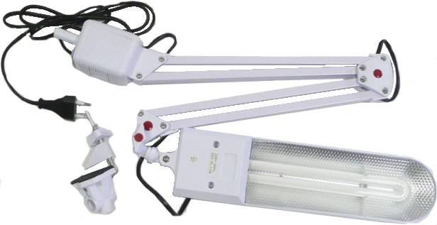 Лампа настольная СТАРТ белая струбцина (цоколь G23, 11Вт)