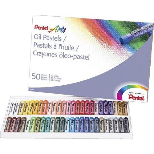 Пастель масляная 50цв Pentel Arts Oil Pastels