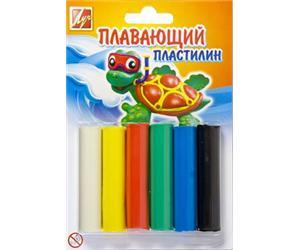 Пластилин 6 цв Плавающий пл/уп