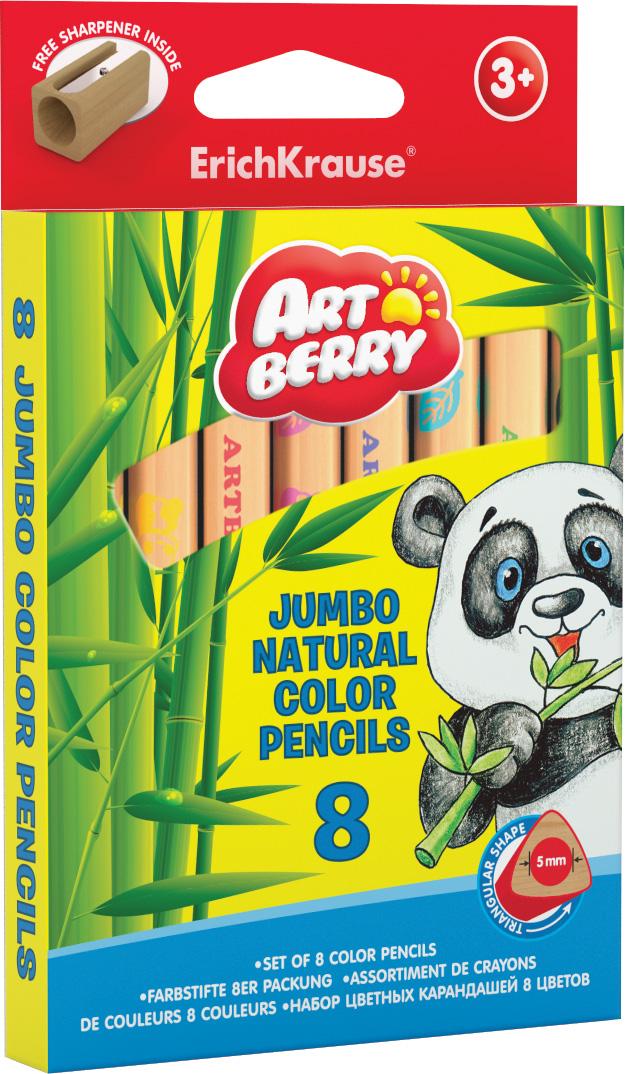 Карандаши цветные 8 цв EK Artberry Jumbo толст. треуг.