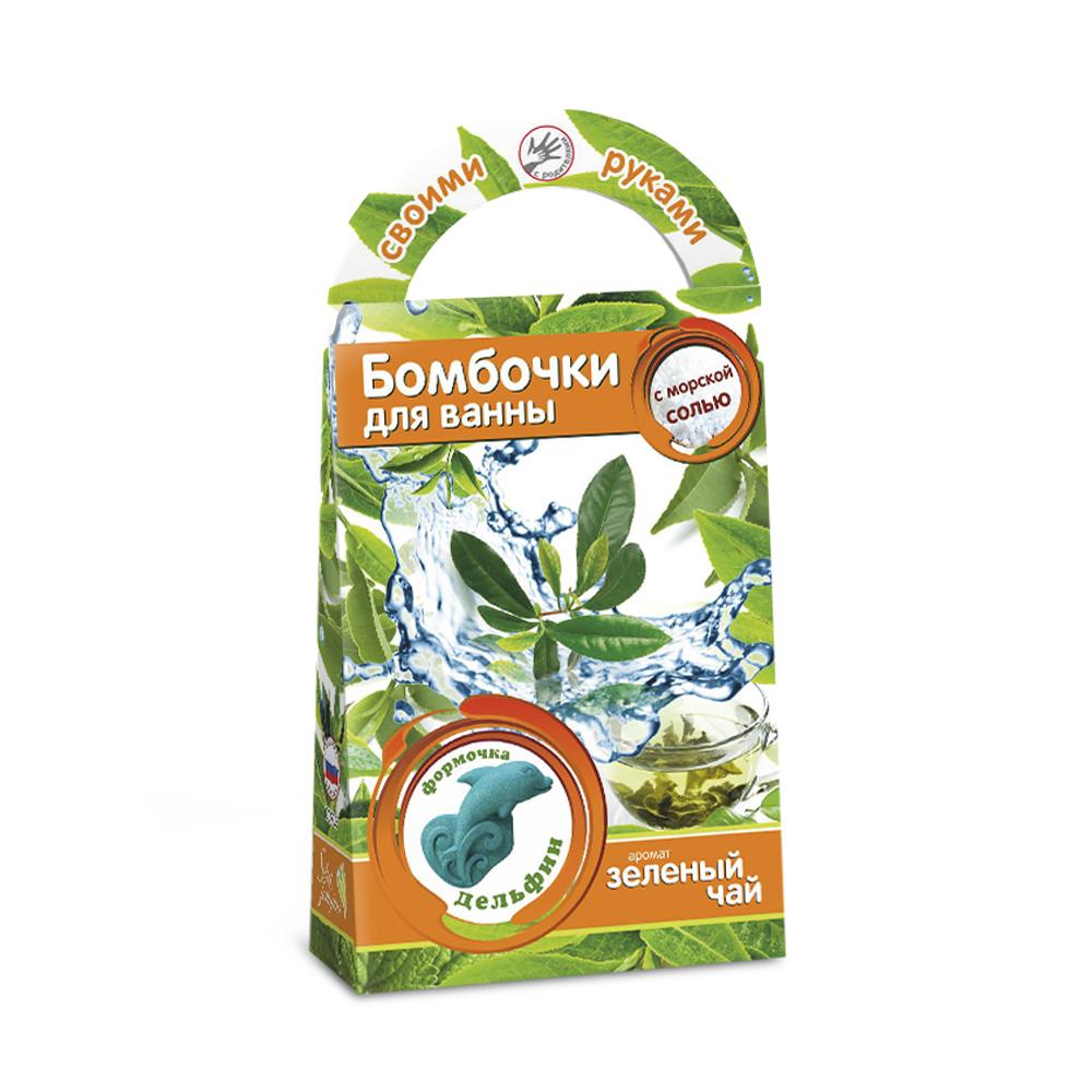 Бомбочки для ванн своими руками Дельфин с ароматом зеленого чая