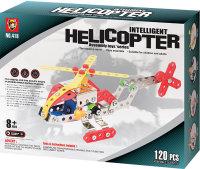 Конструктор металлический Yongtai Вертолет 120 дет.