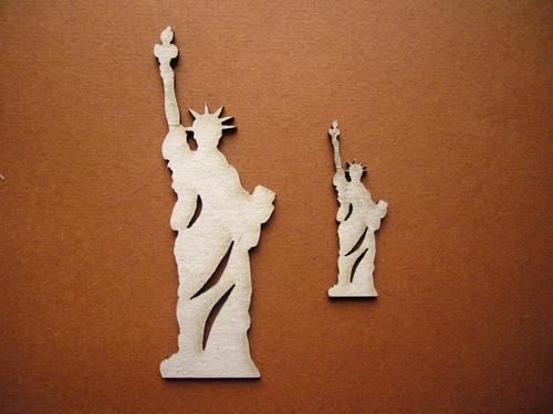 Заготовка из картона Декоративный элемент Статуя Свободы 2шт