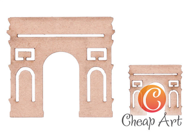 Заготовка из картона Декоративный элемент Триумфальная арка 2шт