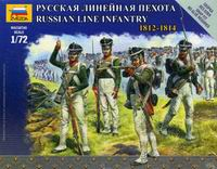 Сборная модель Русская линейная пехота 1812-1814