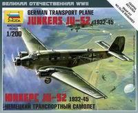 Сборная модель Немецкий транспортный самолет Юнкерс JU-52 1932-45 1/200