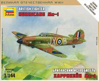 Сборная модель Британский истребитель Харрикейн Мк-1 1/144