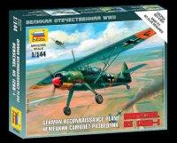 Сборная модель Немецкий самолет-разведчик Хеншель 1/144
