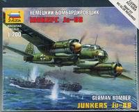 Сборная модель Немецкий бомбардировщик Юнкерс Ju-88 1/200